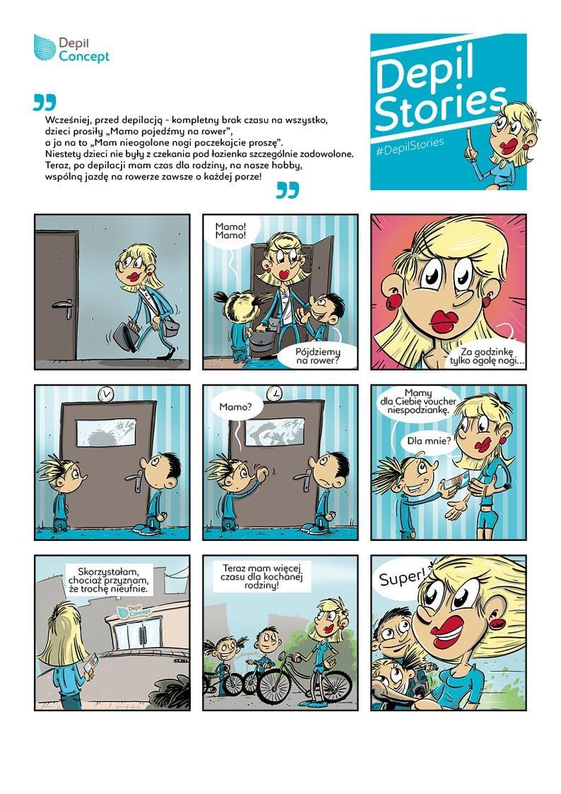 Komiks prawdziwa historia depilacji depilstories