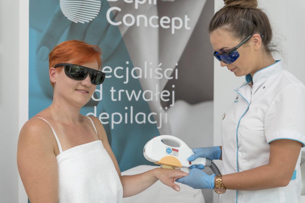 DepilConcept depilacja laserowa trwała shr in motion woskiem